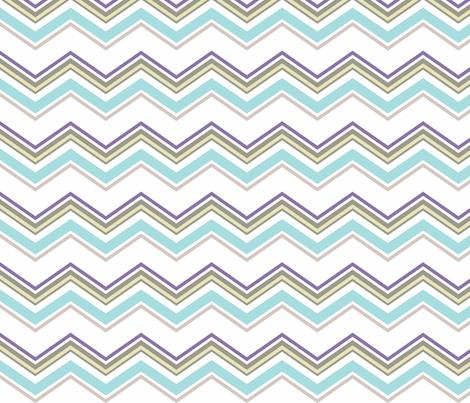 Aqua_chevron fabric by designedtoat on Spoonflower - custom fabric