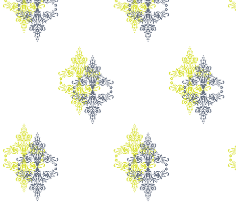 filigree_lime_grey fabric by designedtoat on Spoonflower - custom fabric