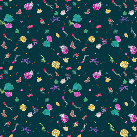 Deep Sea Creatures fabric by basara on Spoonflower - custom fabric