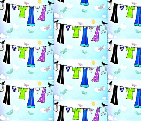 LAUNDRY DAY fabric by bluevelvet on Spoonflower - custom fabric