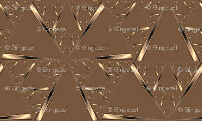 Gold on Brown Pinwheels © Gingezel™ 2012