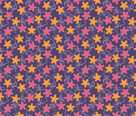 Starfish Ditsy fabric by robyriker on Spoonflower - custom fabric