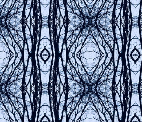 Winter branches fabric by mona_jo on Spoonflower - custom fabric