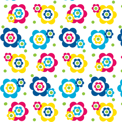 Beautiful Flowers. fabric by elizabethjones on Spoonflower - custom fabric