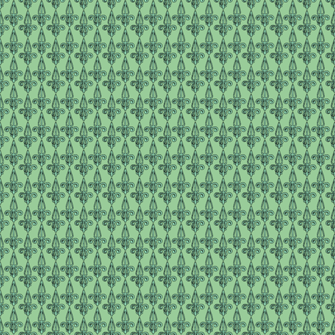 fleurdelis-pjr_mint fabric by glimmericks on Spoonflower - custom fabric