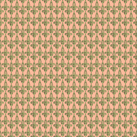 fleurdelis-pjr_cantelope fabric by glimmericks on Spoonflower - custom fabric
