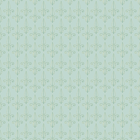 fleurdelis-pjr_mint_tea fabric by glimmericks on Spoonflower - custom fabric