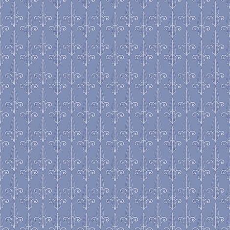 fleurdelis-pjr_periwinkle fabric by glimmericks on Spoonflower - custom fabric