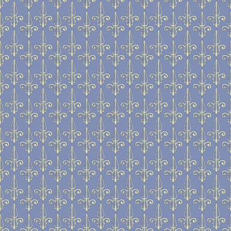 fleurdelis-pjr_bluedust fabric by glimmericks on Spoonflower - custom fabric
