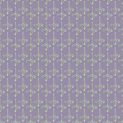 fleurdelis-pjr_lilac fabric by glimmericks on Spoonflower - custom fabric