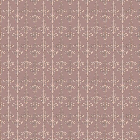 fleurdelis-pjr_woodrose fabric by glimmericks on Spoonflower - custom fabric