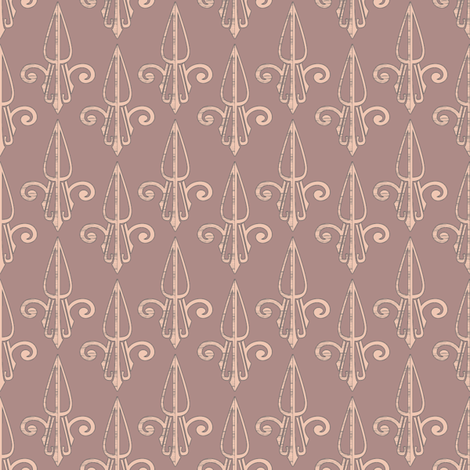 fleurdelis-pjr_woodrose 2 fabric by glimmericks on Spoonflower - custom fabric