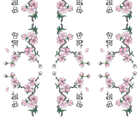 CHERRY BLOSSOMS fabric by bluevelvet on Spoonflower - custom fabric