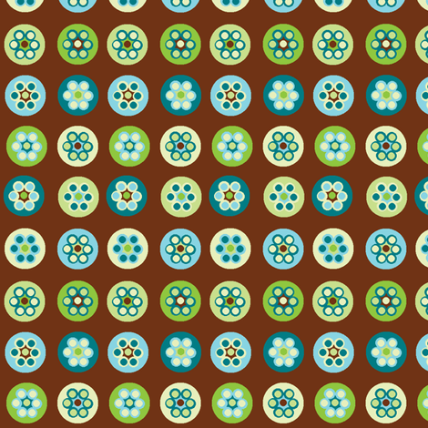 Beads on brown fabric by elizabethjones on Spoonflower - custom fabric