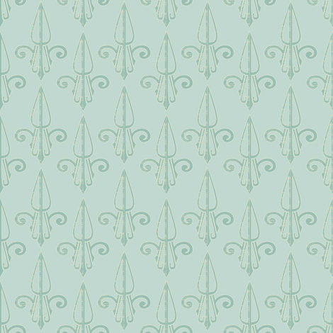 fleurdelis-pjr_mint_tea2 fabric by glimmericks on Spoonflower - custom fabric