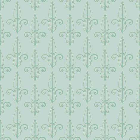 fleurdelis-pjr_mint_tea2 fabric by glimmericks on Spoonflower - custom fabric