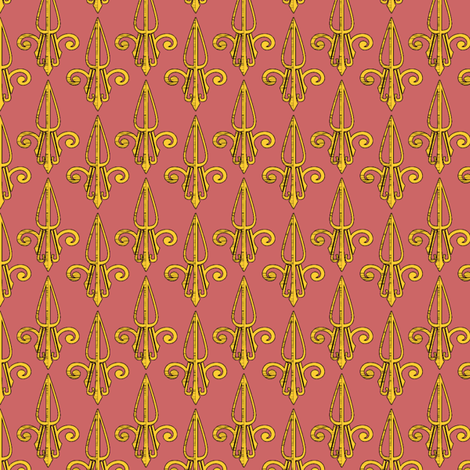 fleurdelis-pjr_gilded2 fabric by glimmericks on Spoonflower - custom fabric