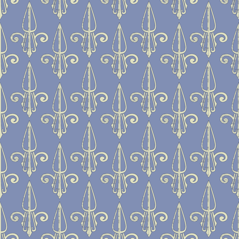 fleurdelis-pjr_blue dust 2 fabric by glimmericks on Spoonflower - custom fabric