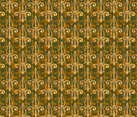 fleurdelis-pjr_triple_gold fabric by glimmericks on Spoonflower - custom fabric