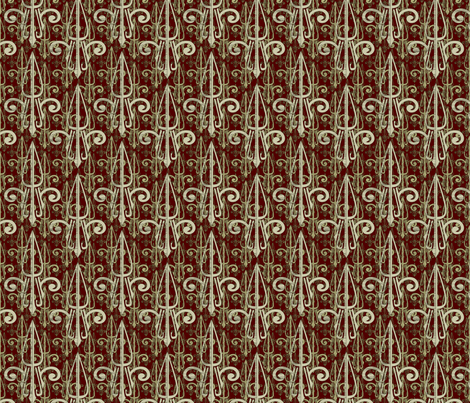 fleurdelis-pjr_triple_regalforest fabric by glimmericks on Spoonflower - custom fabric