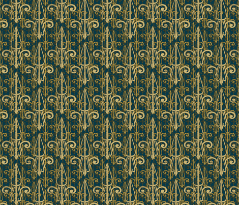 fleurdelis-pjr_triple_atlantis fabric by glimmericks on Spoonflower - custom fabric
