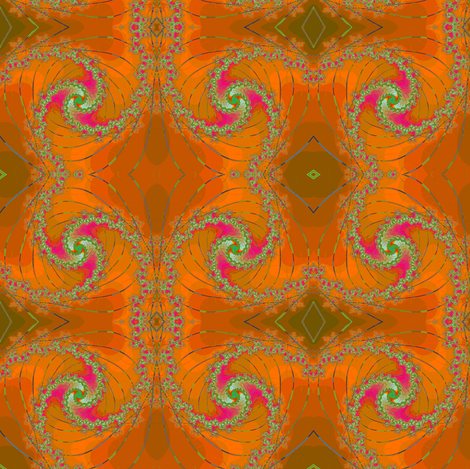 Apricot Springtime Swirl fabric by eclectic_house on Spoonflower - custom fabric