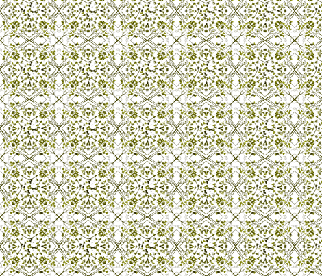 moss leaf lattice fabric by wednesdaysgirl on Spoonflower - custom fabric