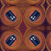 Orange Tardis Swirl