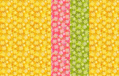 Verbena strips fabric by joanmclemore on Spoonflower - custom fabric