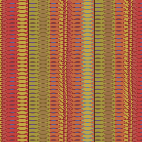 Leaf Row (Reds) fabric by david_kent_collections on Spoonflower - custom fabric