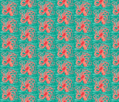 salty octopus fabric by fabricfarmer_by_jill_bull on Spoonflower - custom fabric