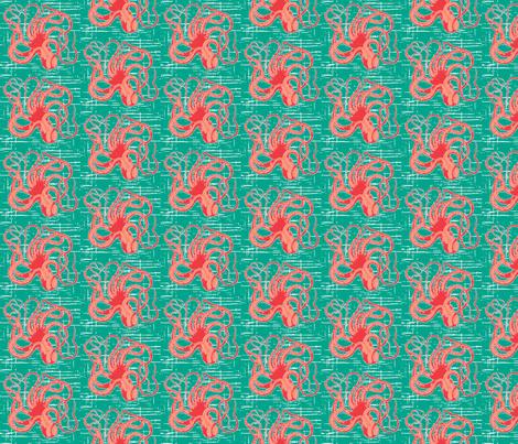 salty octopus ©2010 Jill Bull fabric by palmrowprints on Spoonflower - custom fabric