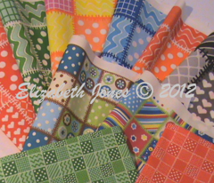 Patchwork beads polka dots!