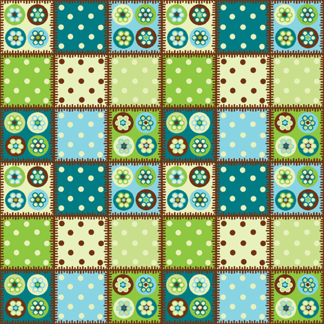 Patchwork beads polka dots! fabric by elizabethjones on Spoonflower - custom fabric