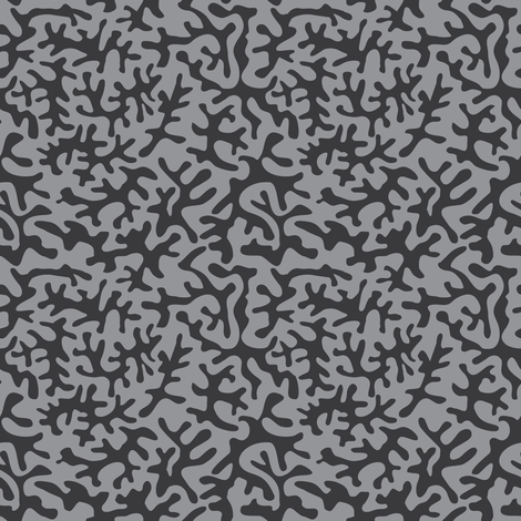 coral_gray fabric by ravynka on Spoonflower - custom fabric