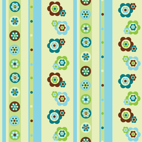Flowers, spots, stripes, beads! fabric by elizabethjones on Spoonflower - custom fabric
