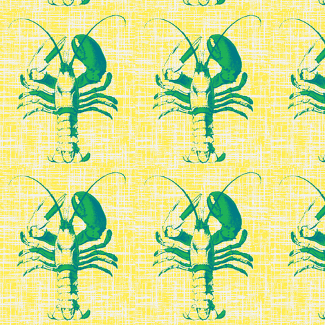 salty lobster fabric by fabricfarmer_by_jill_bull on Spoonflower - custom fabric