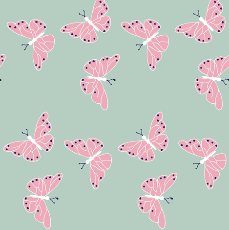 Boho Butterfly ©2015 Jill Bull  fabric by palmrowprints on Spoonflower - custom fabric