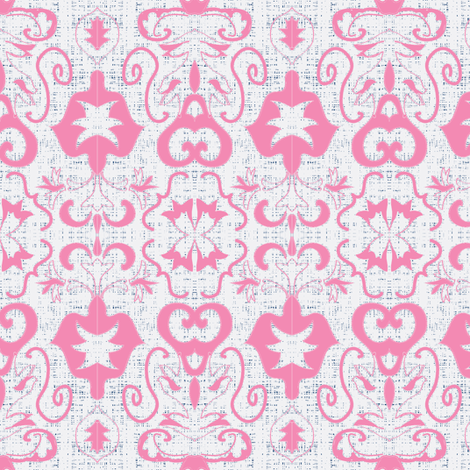 salt water fountain damask (sunset pink)