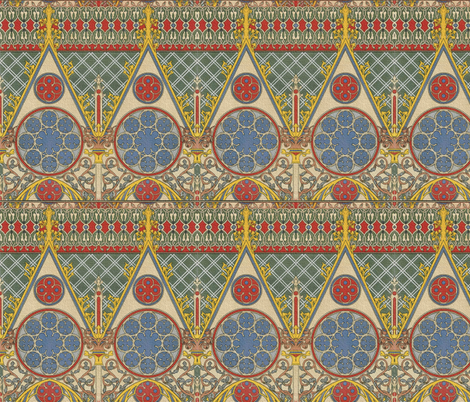 Notre~Dame Chapelle Transept Sud fabric by peacoquettedesigns on Spoonflower - custom fabric
