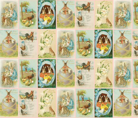 easter_bunnies fabric by natasha_k_ on Spoonflower - custom fabric