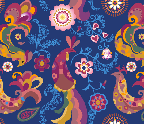 Firebird fabric by chulabird on Spoonflower - custom fabric