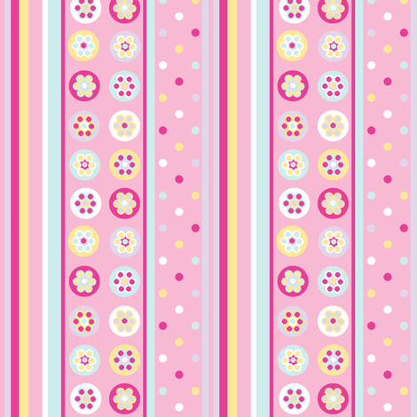 Beads in pinks with a bright pink fabric by elizabethjones on Spoonflower - custom fabric