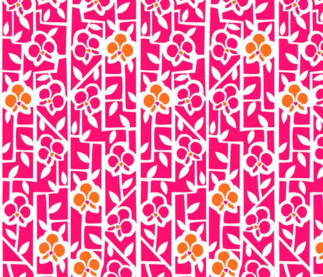 Hot Pink Orchids fabric by acbeilke on Spoonflower - custom fabric