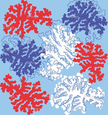 red / blue lrg print