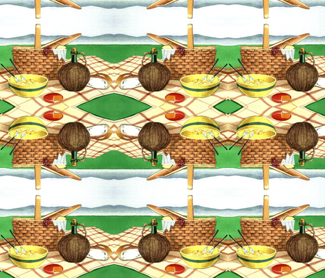 PICNIC TIME fabric by bluevelvet on Spoonflower - custom fabric