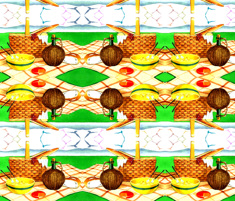 PICNIC BASKET fabric by bluevelvet on Spoonflower - custom fabric