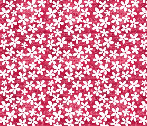 flowers on pink fabric by anastasiia-ku on Spoonflower - custom fabric