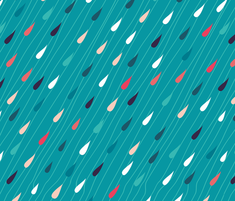 rain drops fabric by anastasiia-ku on Spoonflower - custom fabric