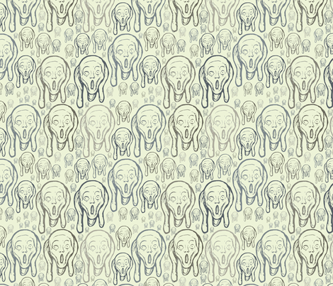 Beige Munch fabric by sydama on Spoonflower - custom fabric